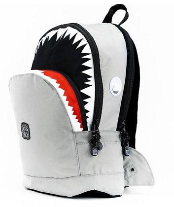 תיק בית ספר כריש אפור M