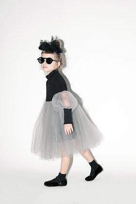 שמלת טוטו שחור/אפור , שחור /ורוד , לבן