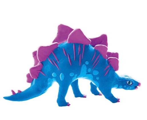 יצירה בבצק משחק והרכבה דינוזאור סטגוזאורוס
