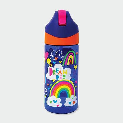 בקבוק קשת וענן+ קש סיליקון גמיש