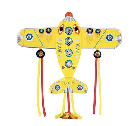 עפיפון אוירון צהוב