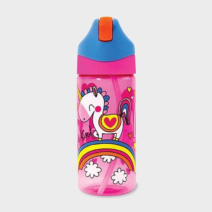 בקבוק חד קרן+ קש סיליקון גמיש