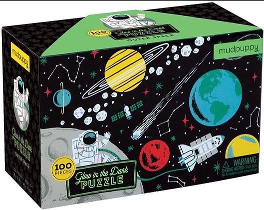 פאזל חלל 100 חלקים זוהר בחושך