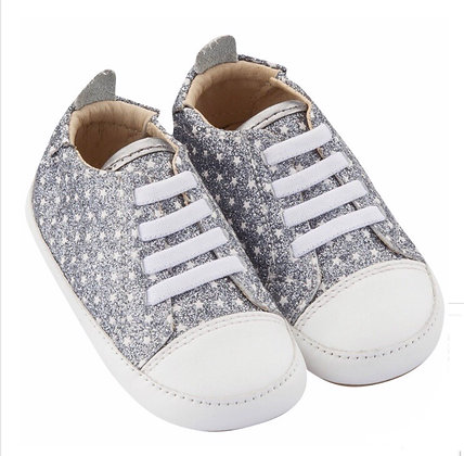 נעלי צעד ראשון כסוף כוכבים