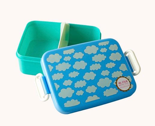 קופסת אוכל מחולקת עננים תכלת