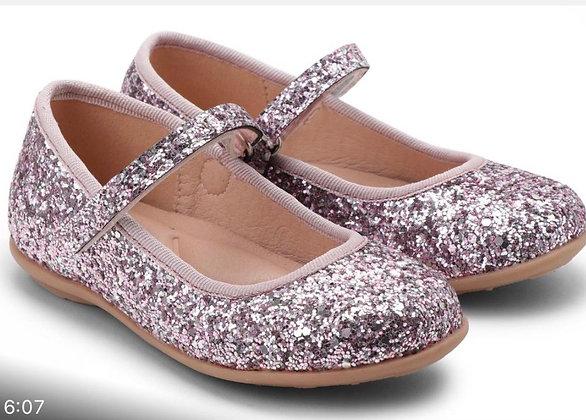 נעל בלרינה צבע ורוד מנצנץ
