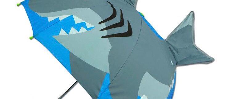 מטריה תלת ממד כריש