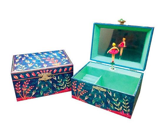 קופסת תכשיטים מנגנת בלרינה טורכיז