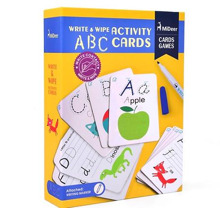 כרטיסיות מחיקות ללימוד ABC
