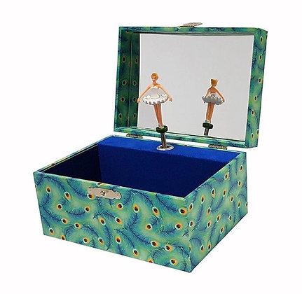 קופסת תכשיטים טווס