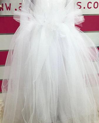 חצאית טול מהודרת לבנה ארוכה