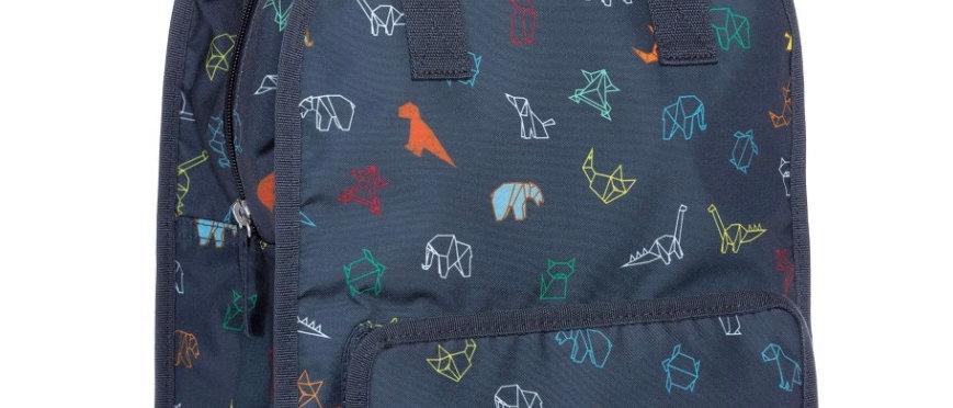 תיק בית ספר חיות אוריגמי
