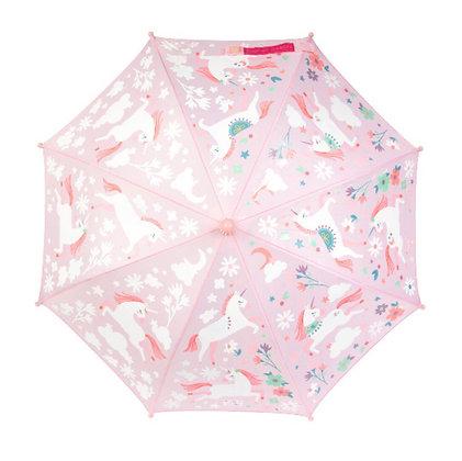 מטרייה חד קרן ורודה מחליפה גוונים