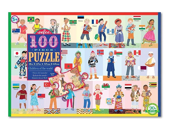 פאזל ילדי העולם 100 חלקים