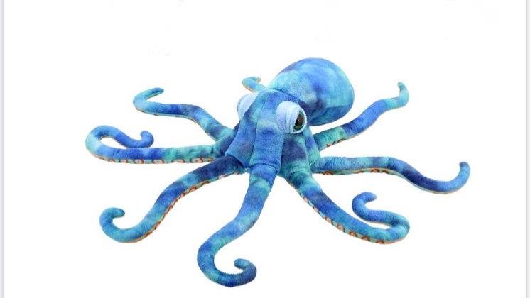 בובת תמנון כחולה