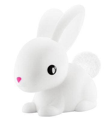 מנורת ארנבון לבן + פונפון
