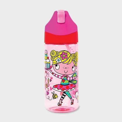 בקבוק שתייה בלרינה + קש סיליקון גמיש