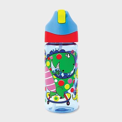 בקבוק דינוזאור + קש סיליקון גמיש