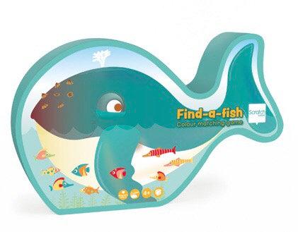 ערכת משחק מצא את הדג התאמת צבעים