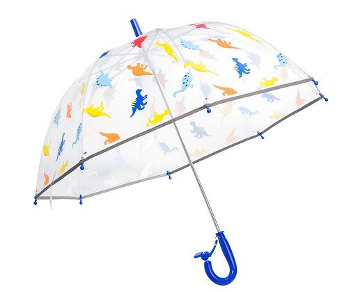 מטריה פטריה שקופה דינוזאורים גיל 5+