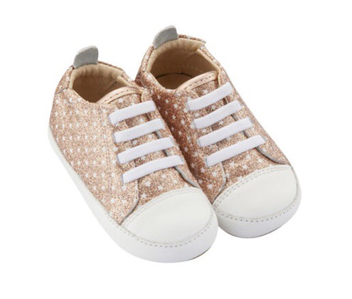 נעלי צעד ראשון ברונזה כוכבים