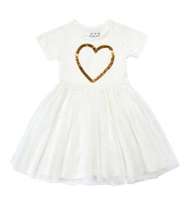 שמלת חג לב מוזהב