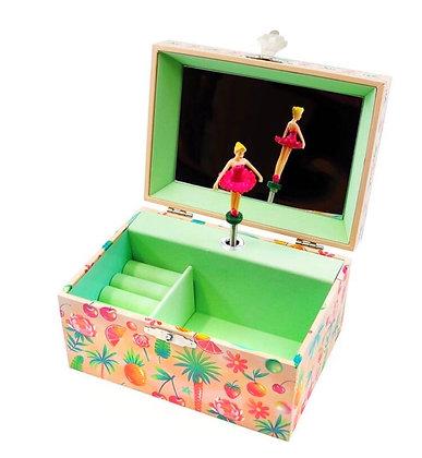 קופסת תכשיטים מנגנת בלרינה טרופי
