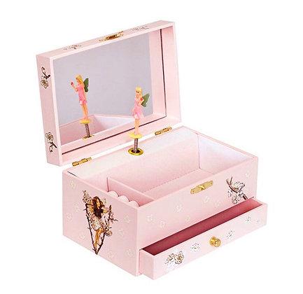 קופסת תכשיטים מהודרת פייה ורדרדה