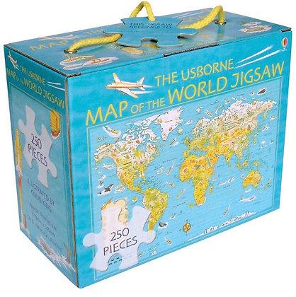 פאזל מפת עולם 250 חלקים