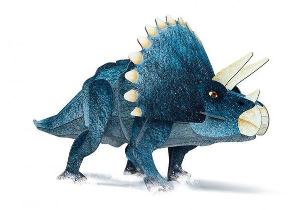הרכבה דינוזאור תלת מימד