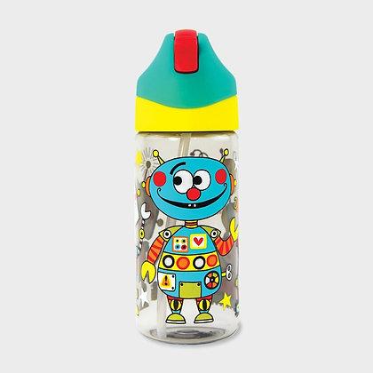 בקבוק שתייה רובוטים +קש סיליקון גמיש