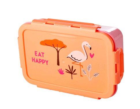 קופסת אוכל מחולקת ל-2 פלמינגו