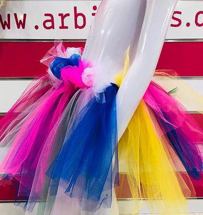 חצאית טול מהודרת צבעונית