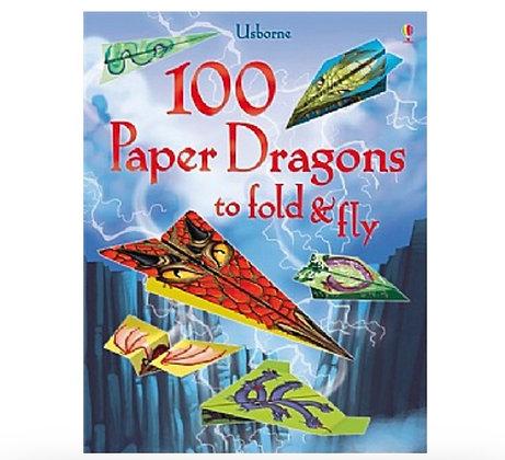 ערכת הכנת 100 קיפולי נייר מטוסי דרקונים