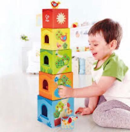 משחק קוביות כולל חיות מעץ