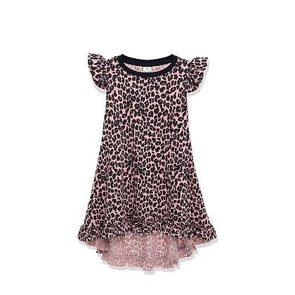 שמלה מסתובבת נמר ורוד