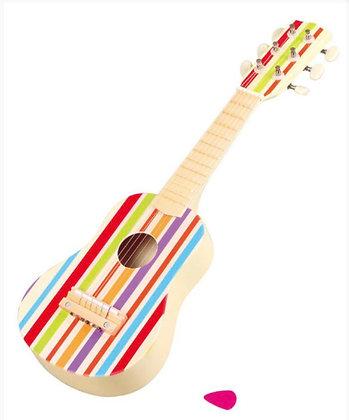 גיטרת עץ פסים