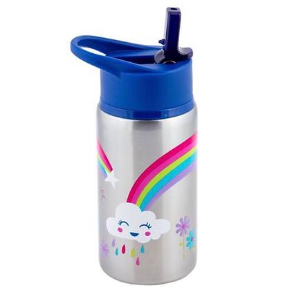 בקבוק תרמי קשת בענן + קש נוסף להחלפה