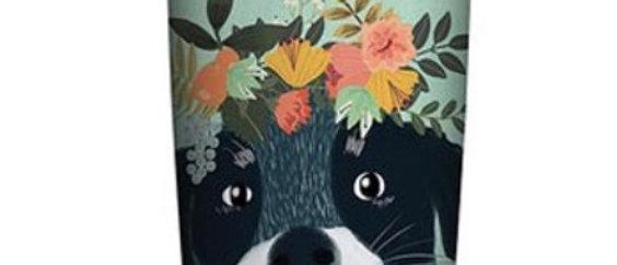 כוס טרמית  כלב פרחוני