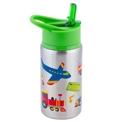 בקבוק תרמי מטוסים תחבורה + קש נוסף להחלפה