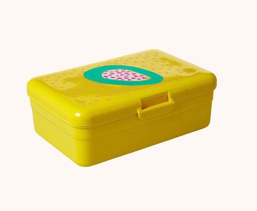 קופסת אוכל צהובה