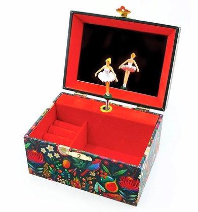 קופסת תכשיטים מנגנת בלרינה ביער