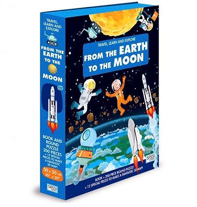 פאזל חלל 200 חלקים + דמויות+ ספר