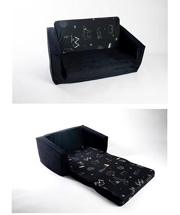ספה לילדים הדפס + בסיס שחור