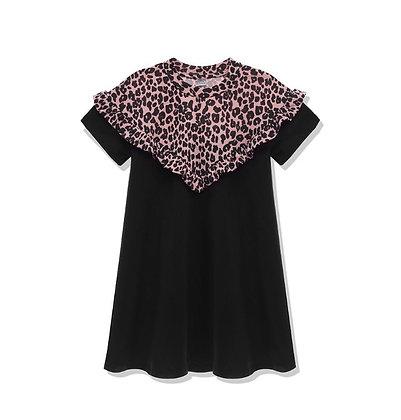 שמלת נמר שחור משולש