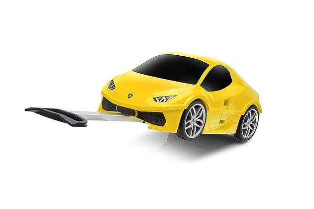 טרולי מכונית צהובה
