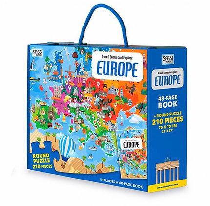 פאזל 210 חלקים מטיילים באירופה