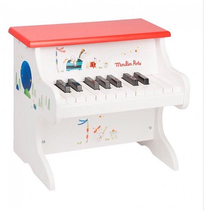 פסנתר עץ  לבן מאוייר