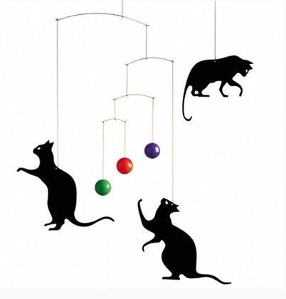 מובייל חתולים כדורים