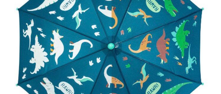 מטריית דינוזאור מחליפה גוונים
